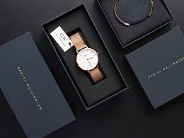 Daniel Wellington手表拍摄 北欧风女士手表手镯套装