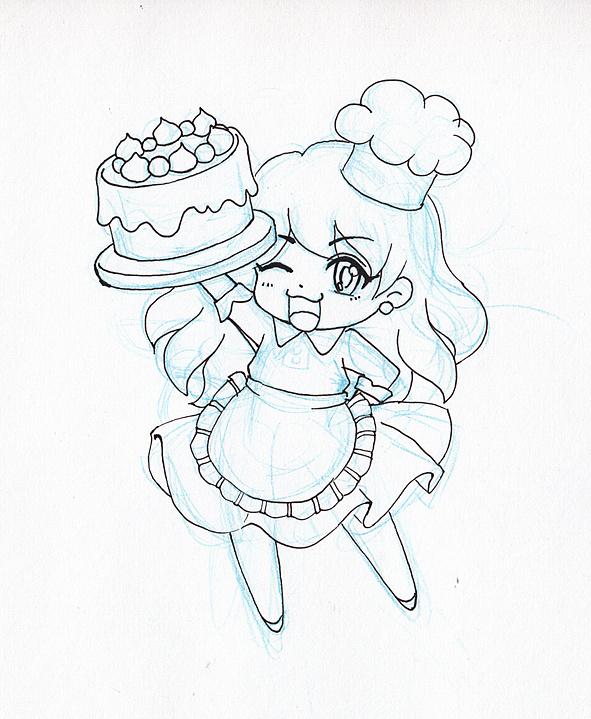蛋糕简笔画步骤