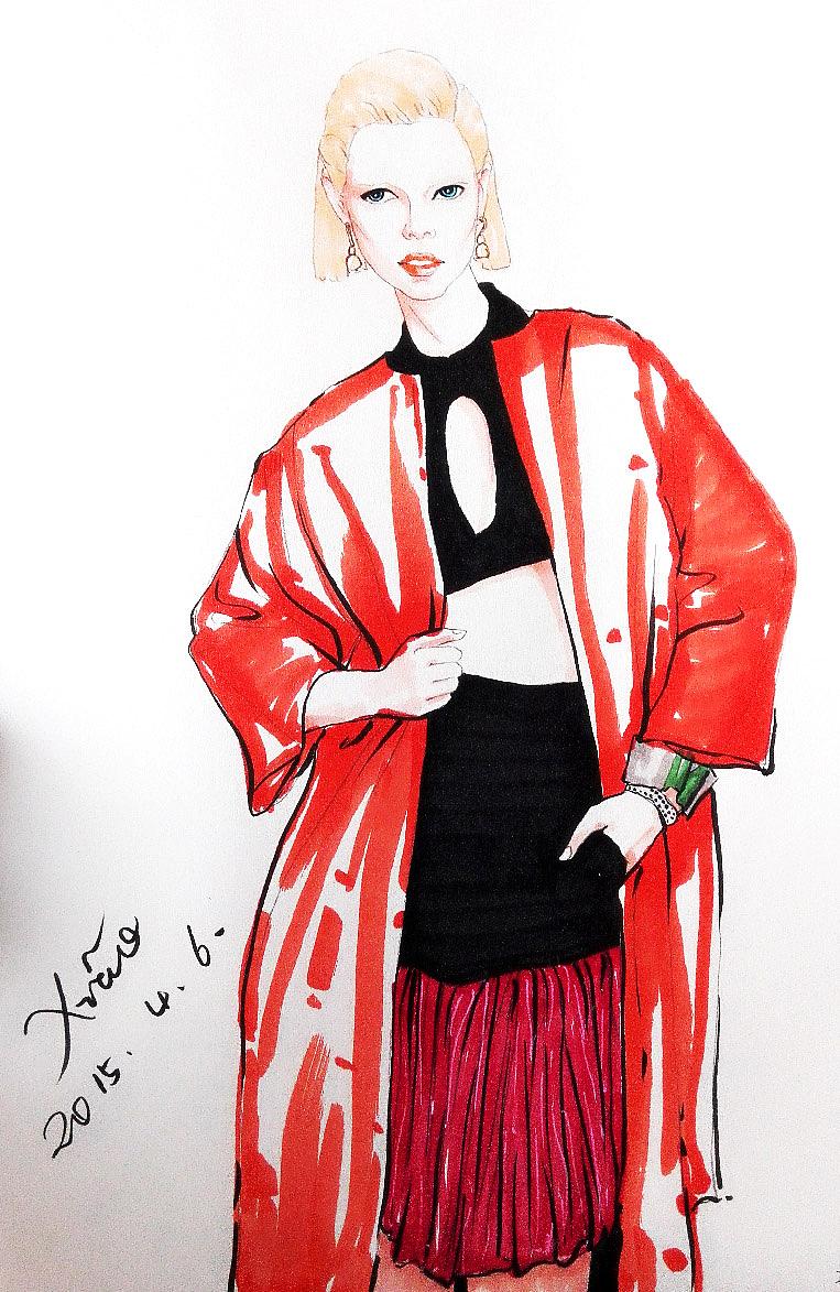 马克笔手绘服装设计图展示