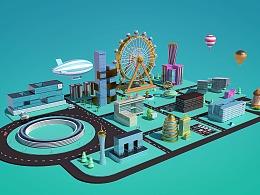 C4D虚拟城市—互联网大咖