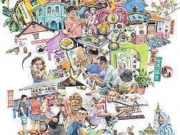 2020年初马来西亚短途采风·插画&速写
