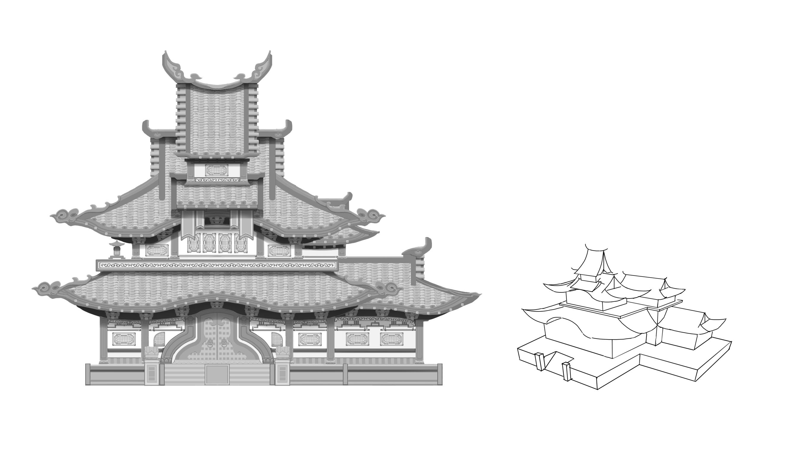 中国风单体正视稿设计-4