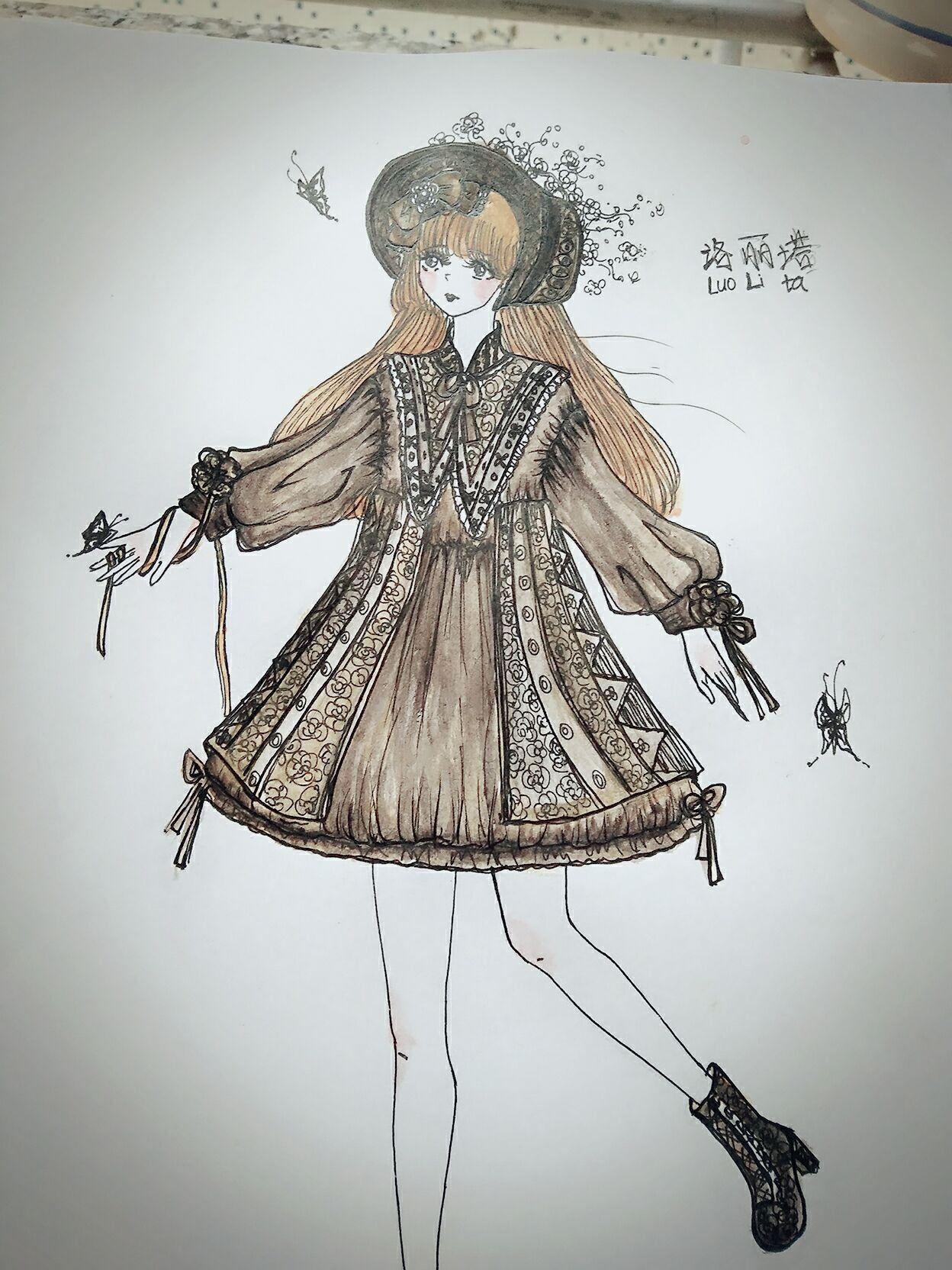 原创手绘洛丽塔