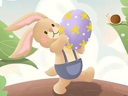 复活节兔子