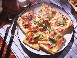 培根口蘑披萨 | 美食短片 味蕾时光