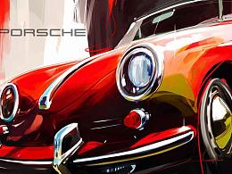 油画+汽车