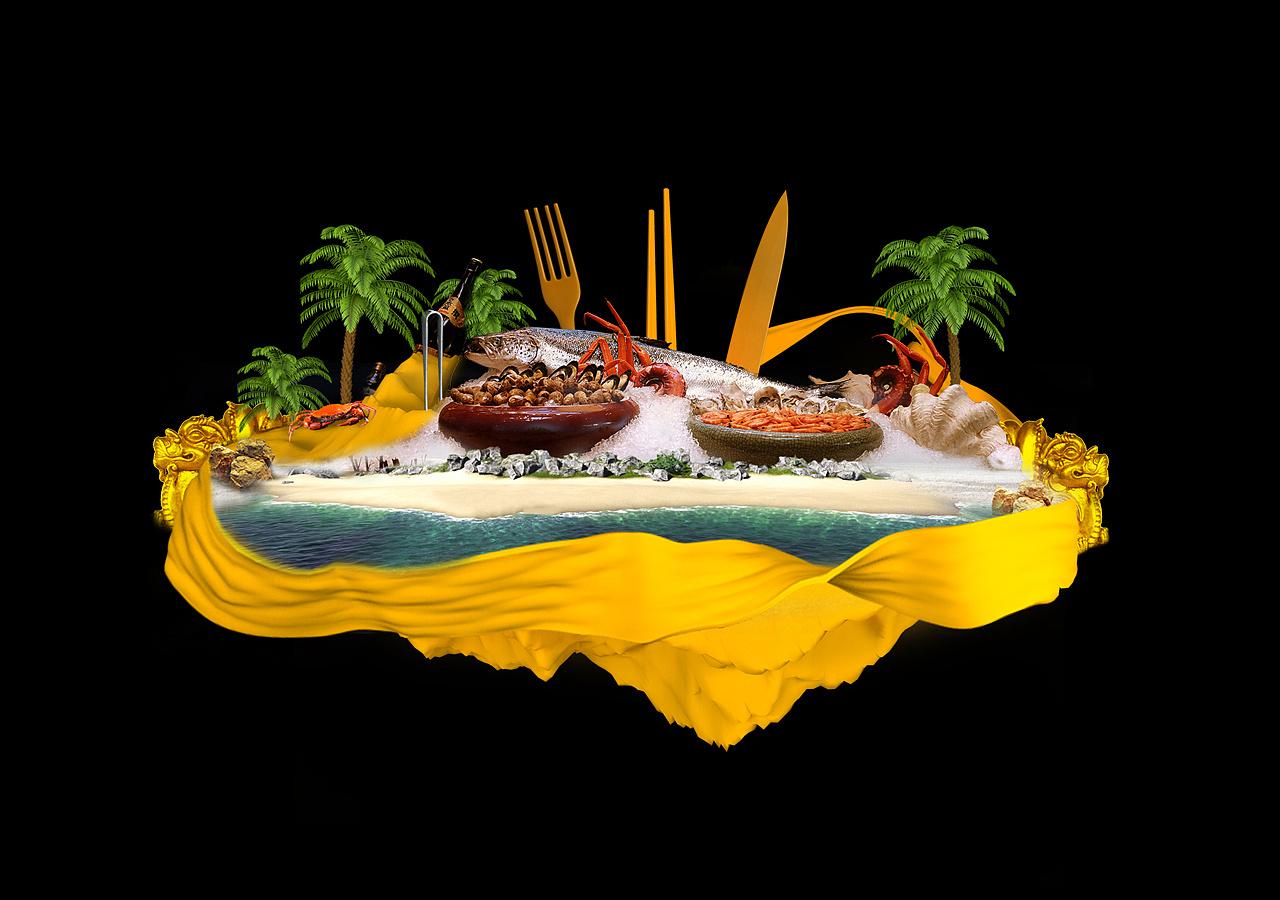 成都仁和春天自助餐_自助餐厅主视觉设计稿/上|平面|宣传品|Ceng_x - 原创作品 - 站酷 (ZCOOL)