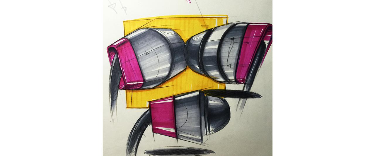 产品设计手绘手稿-马克笔表达