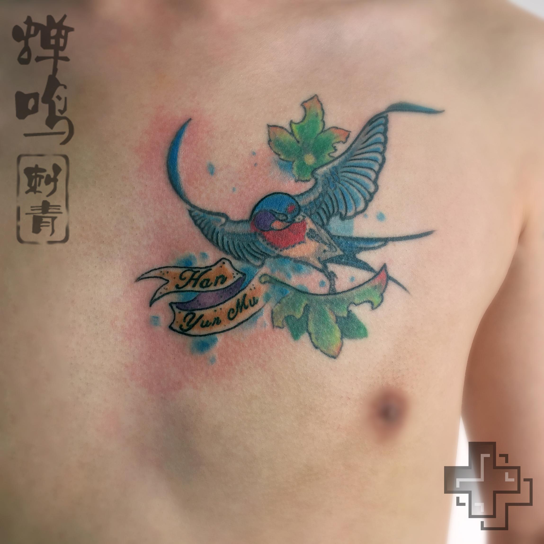 纹身作品——燕子|手工艺|其他手工|2nu7lg - 原创