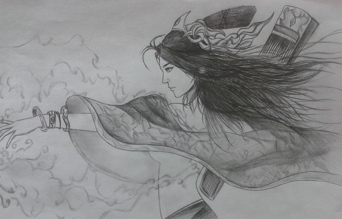 休闲手绘稿 动漫 单幅漫画 sky_哼哼哈兮 - 原创作品