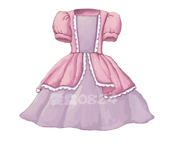 儿童插画 公主裙