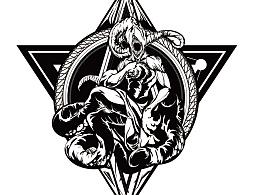 #非黑即白# 克苏鲁神话之奈亚拉托提普