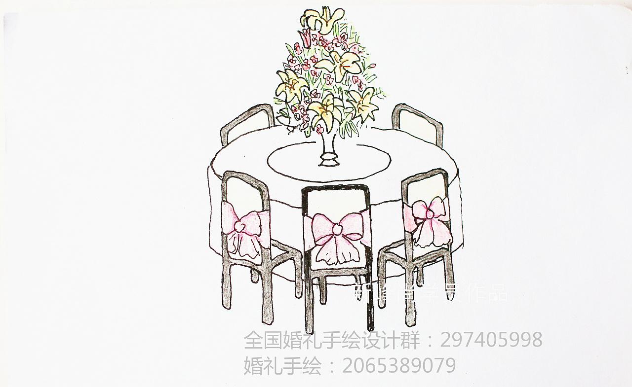 手绘——婚礼手绘设计效果图|空间|舞台美术|新峰尚师