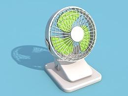 C4D建模练习 小风扇 动效