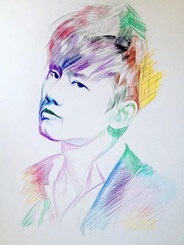 手绘张杰(彩铅)|彩铅|纯艺术|绘汉zf