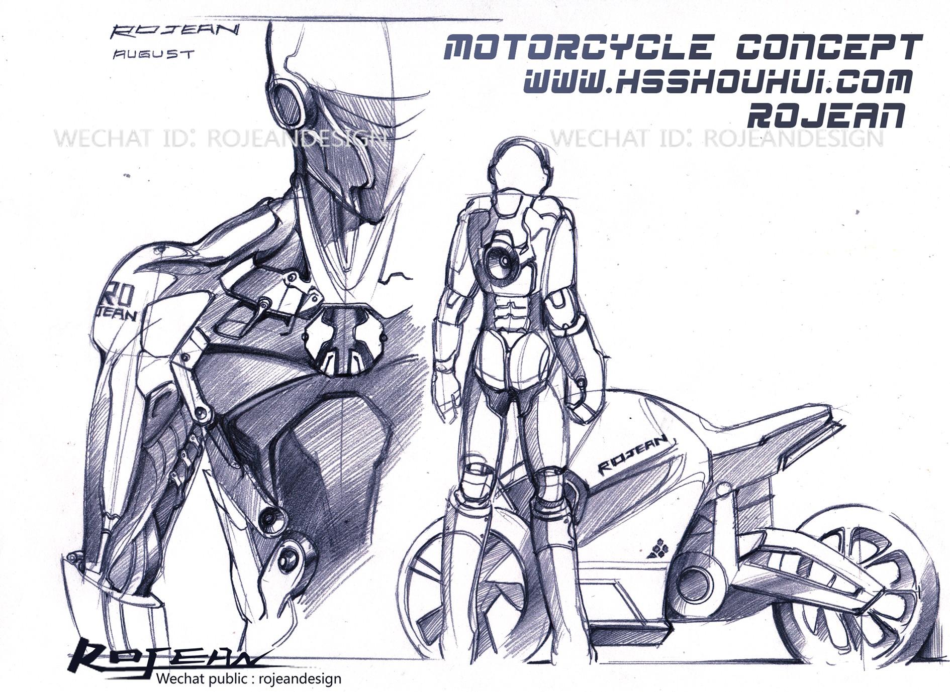 机器人设计手绘过程