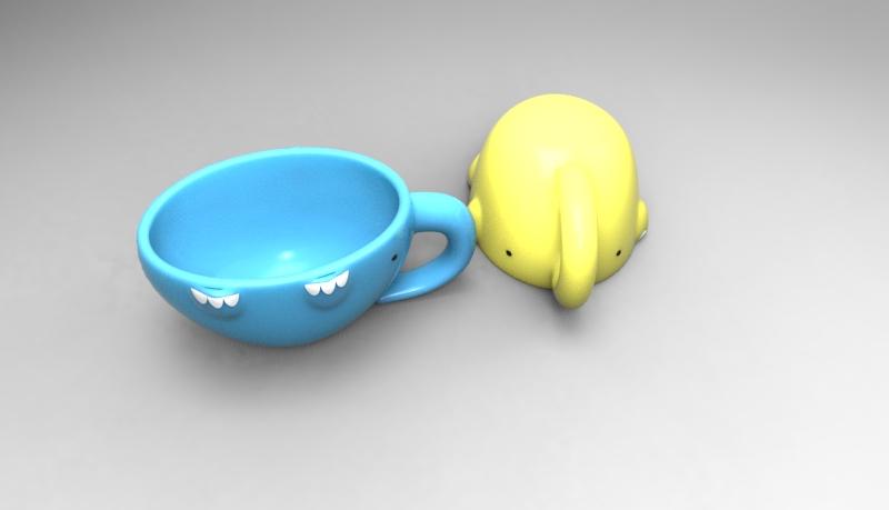 可爱大象杯子|生活用品|工业/产品|meiko