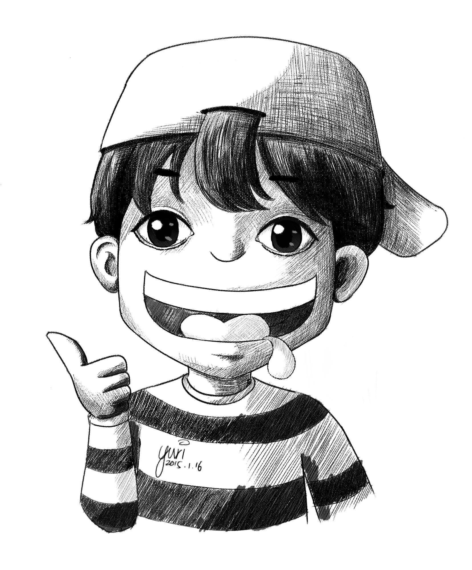 画法男生发型发型_男生动漫帅气短发_漫画人草莓发型刘图片