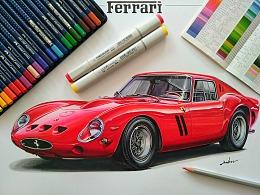 手绘Ferrari 250 GTO