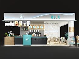 鹿与茶(奶茶店)全案设计 - 餐饮设计公司