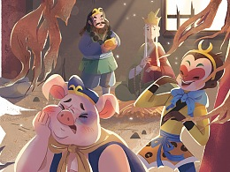 猪八戒吃西瓜-儿童绘本