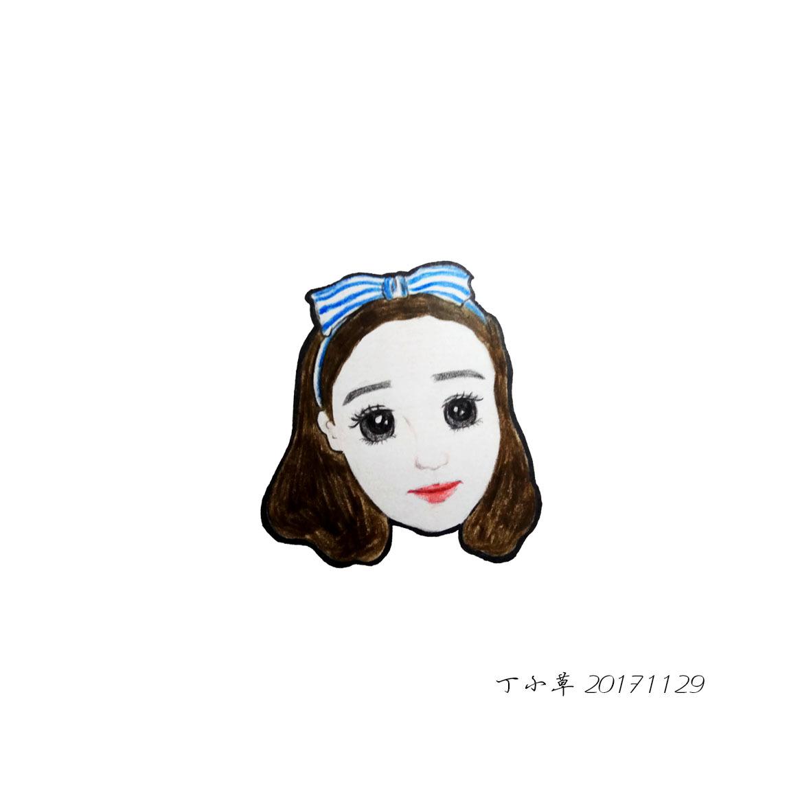 彩铅手绘|动漫|肖像漫画|卖酱草 - 原创作品 - 站酷