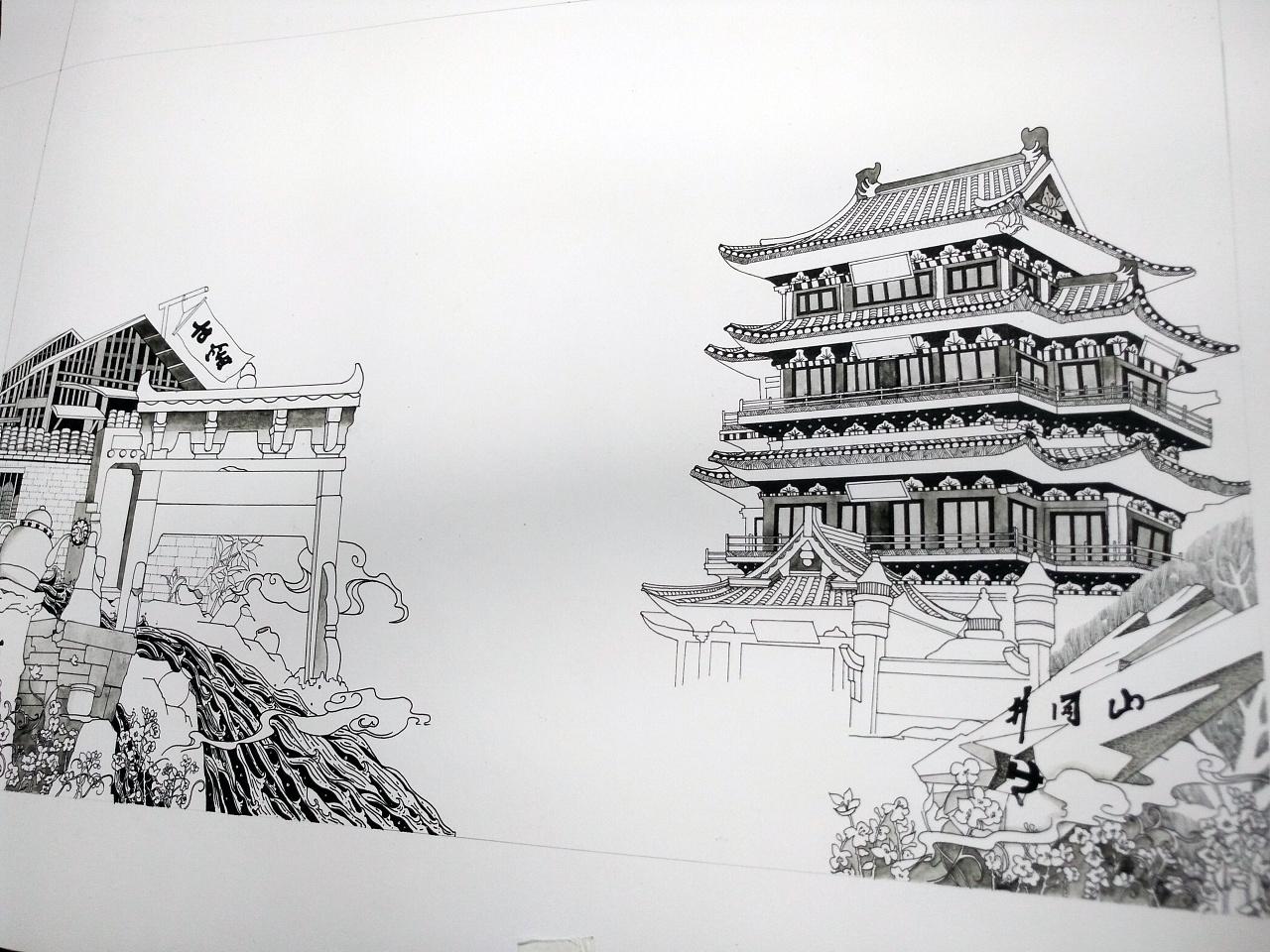 一些黑白手绘插画