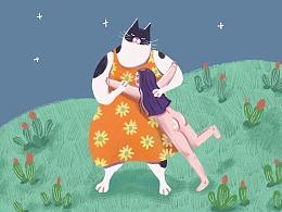 关于猫的插画