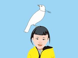 小白鸽和小黄丫