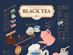 1704 Black tea Infographic Poster