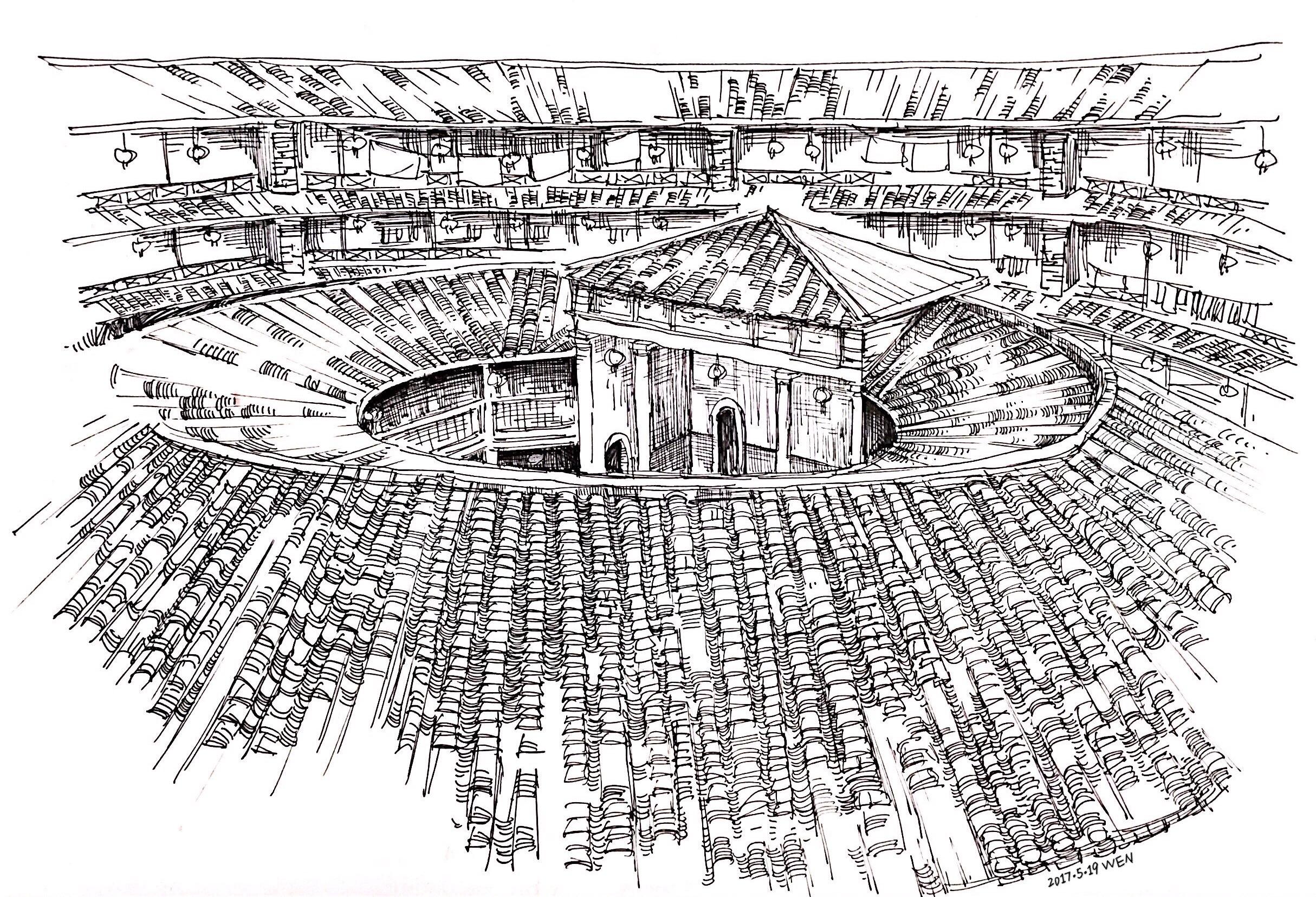 钢笔手绘(2)福建土楼