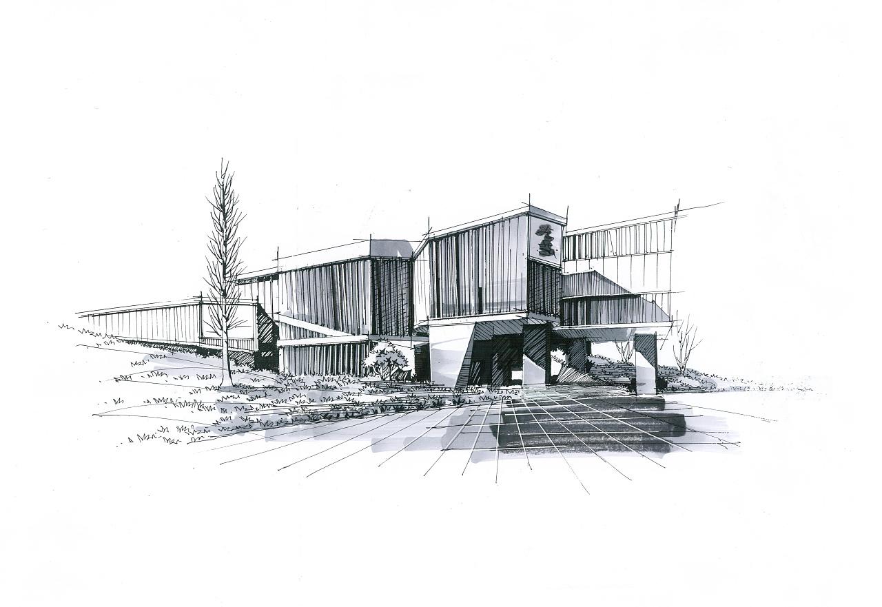 建筑画 纯艺术 钢笔画 小影的小影 - 原创作品 - 站酷