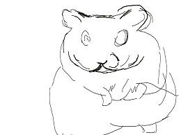 用手绘板画一只老鼠