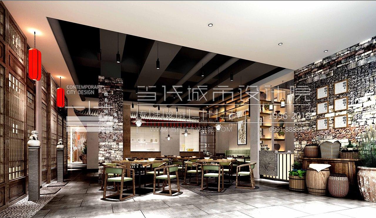 当代餐饮设计院|甘肃人家城市空间设计庭院11平米设计图及方案图片