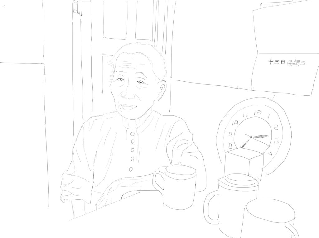 户型 户型图 简笔画 平面图 手绘 线稿 1023_764