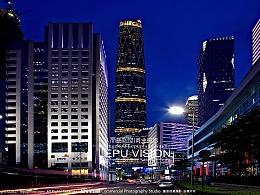 城市建筑外景夜景风景摄影图片