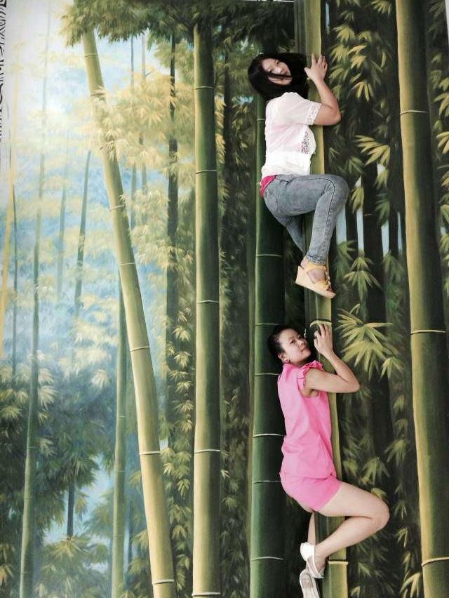 只有上海3d立体画才能让你体验错乱时空的魔幻动物园