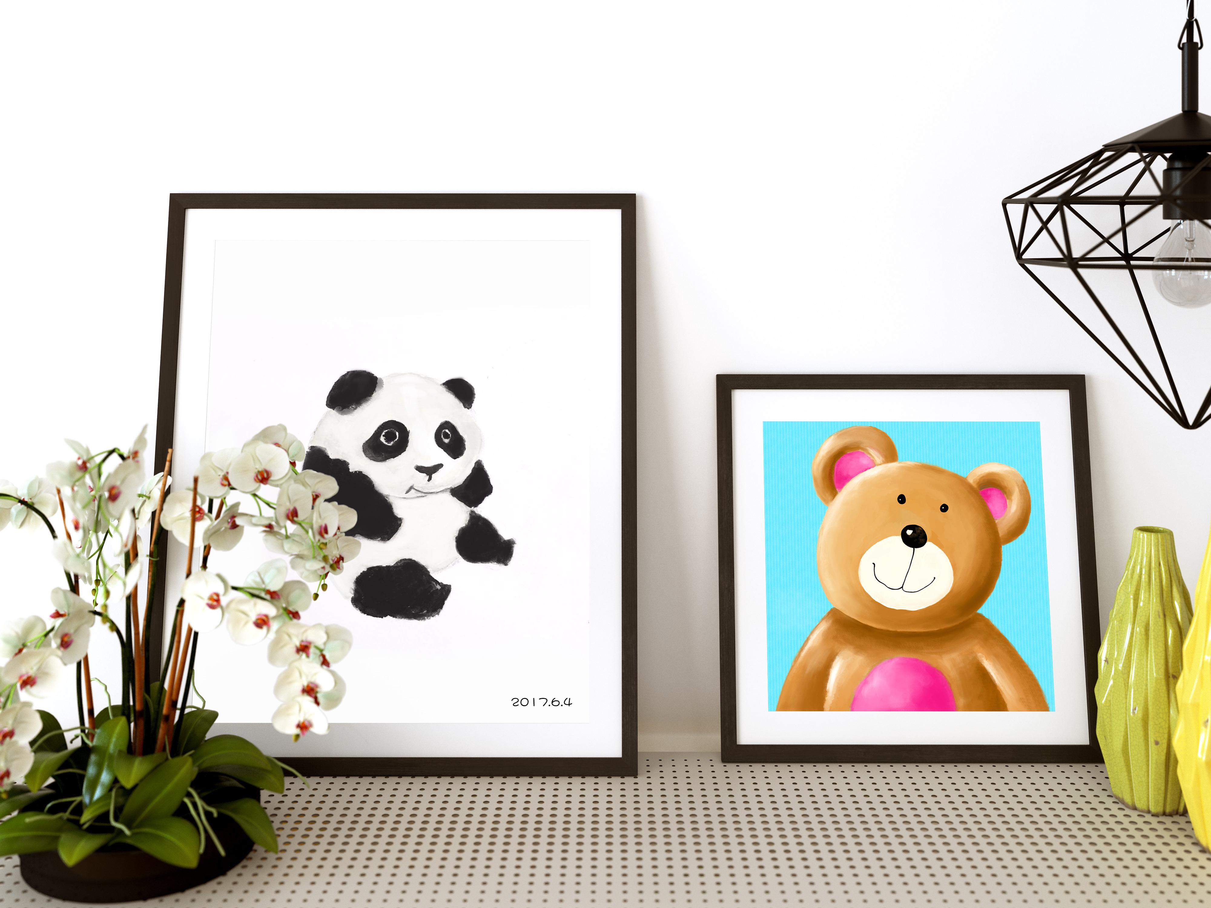 卡通 手绘 熊猫