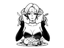 女恶魔吃手手~~