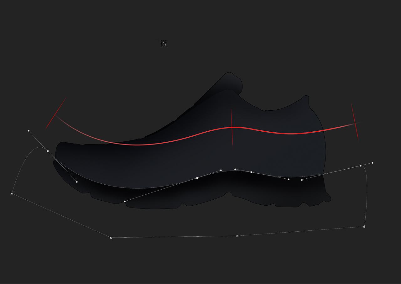 ps:用钢笔工具勾选路径时注意,尽量用最少的锚点控制曲线,这样才能让图片