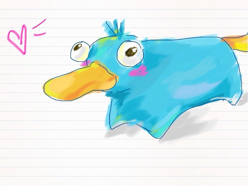 乱涂乱画新抱枕 傻鸭子 卡通手绘 可爱鸭鸭