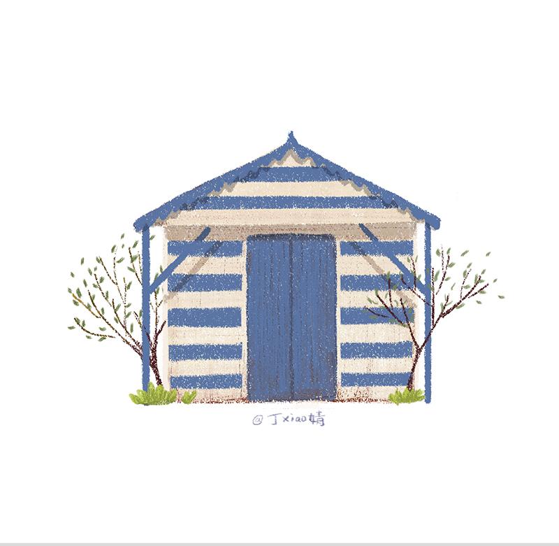 插画每日一图ps电脑手绘小房子7