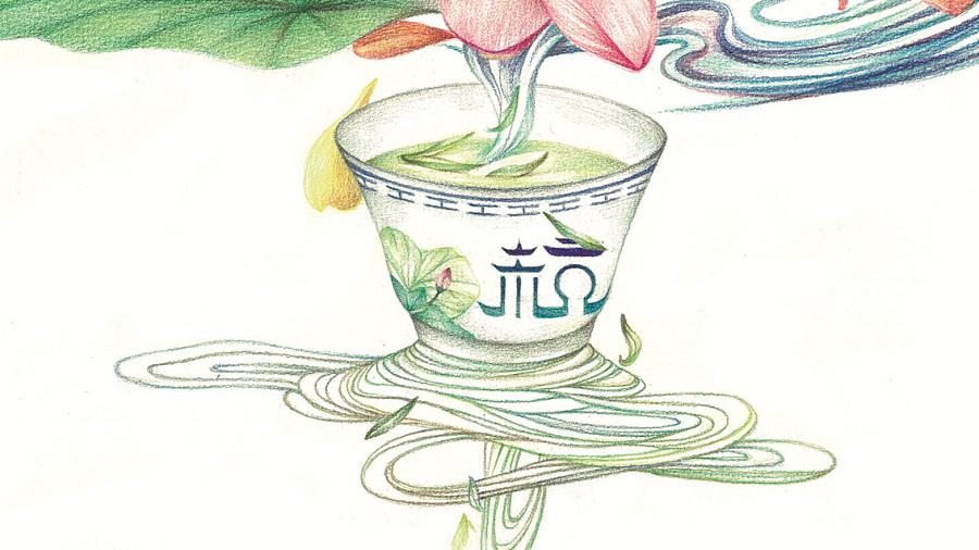 杭州g20手绘海报|商业插画|插画|外星小汪汪