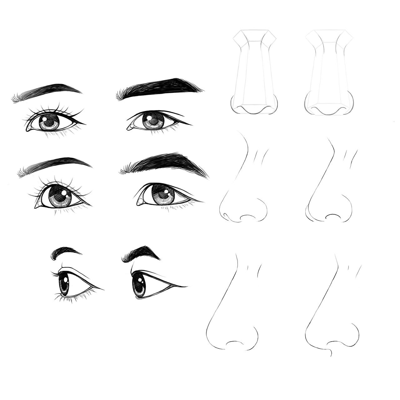眼睛鼻子练习