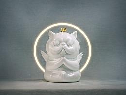 候鸟陶作品-吃货喵小鲲-陶瓷小雕塑