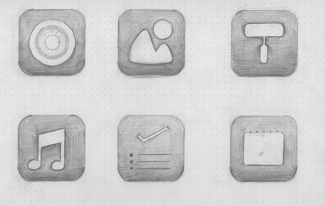 手绘图标设计