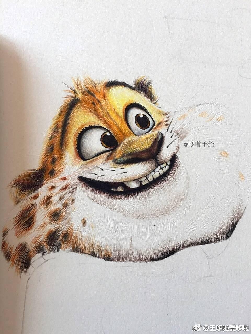 疯狂豹子王_疯狂动物城 豹警官|纯艺术|彩铅|王哆啦 - 原创作品 - 站酷 (ZCOOL)