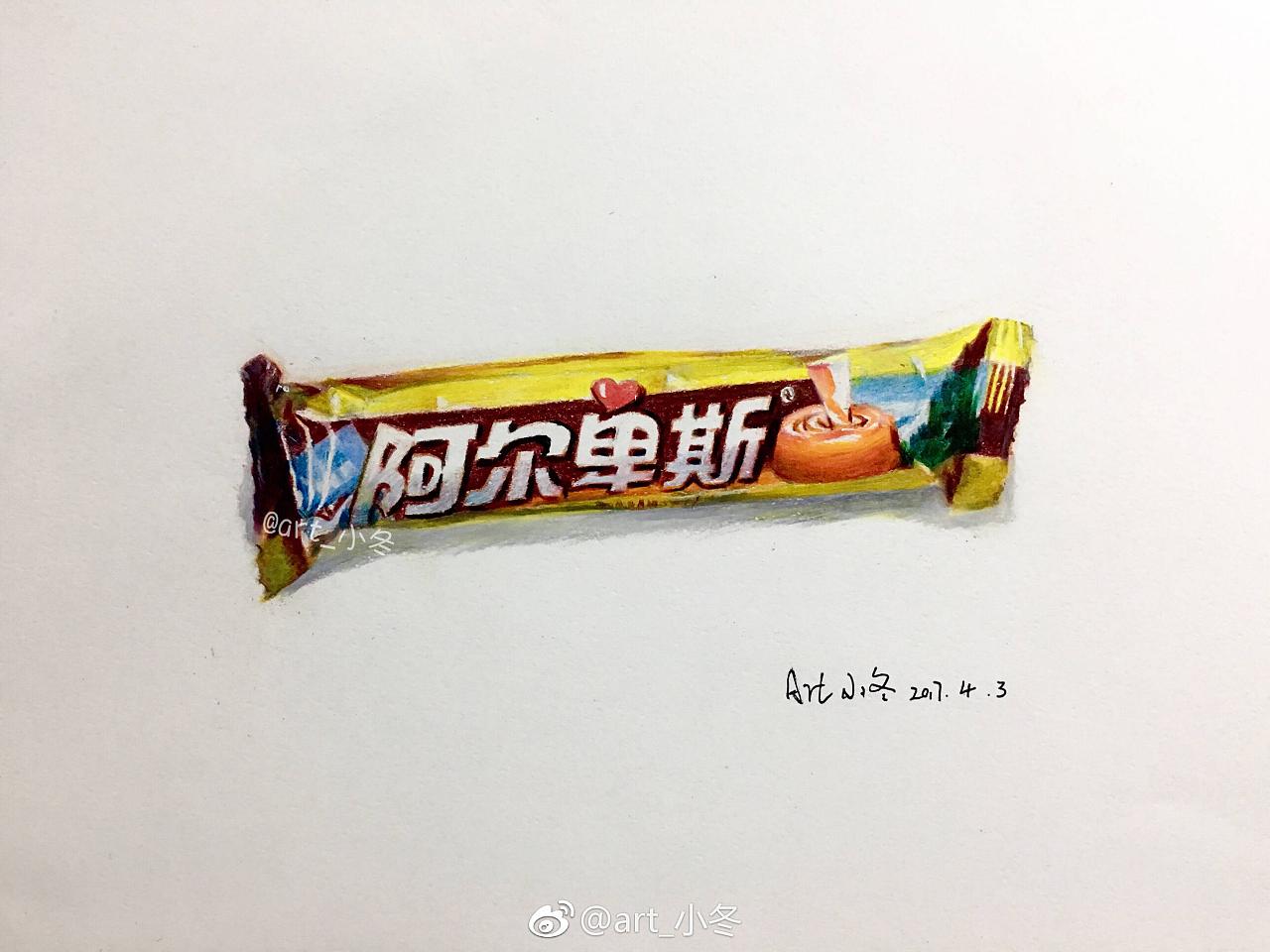 彩铅画糖果图片