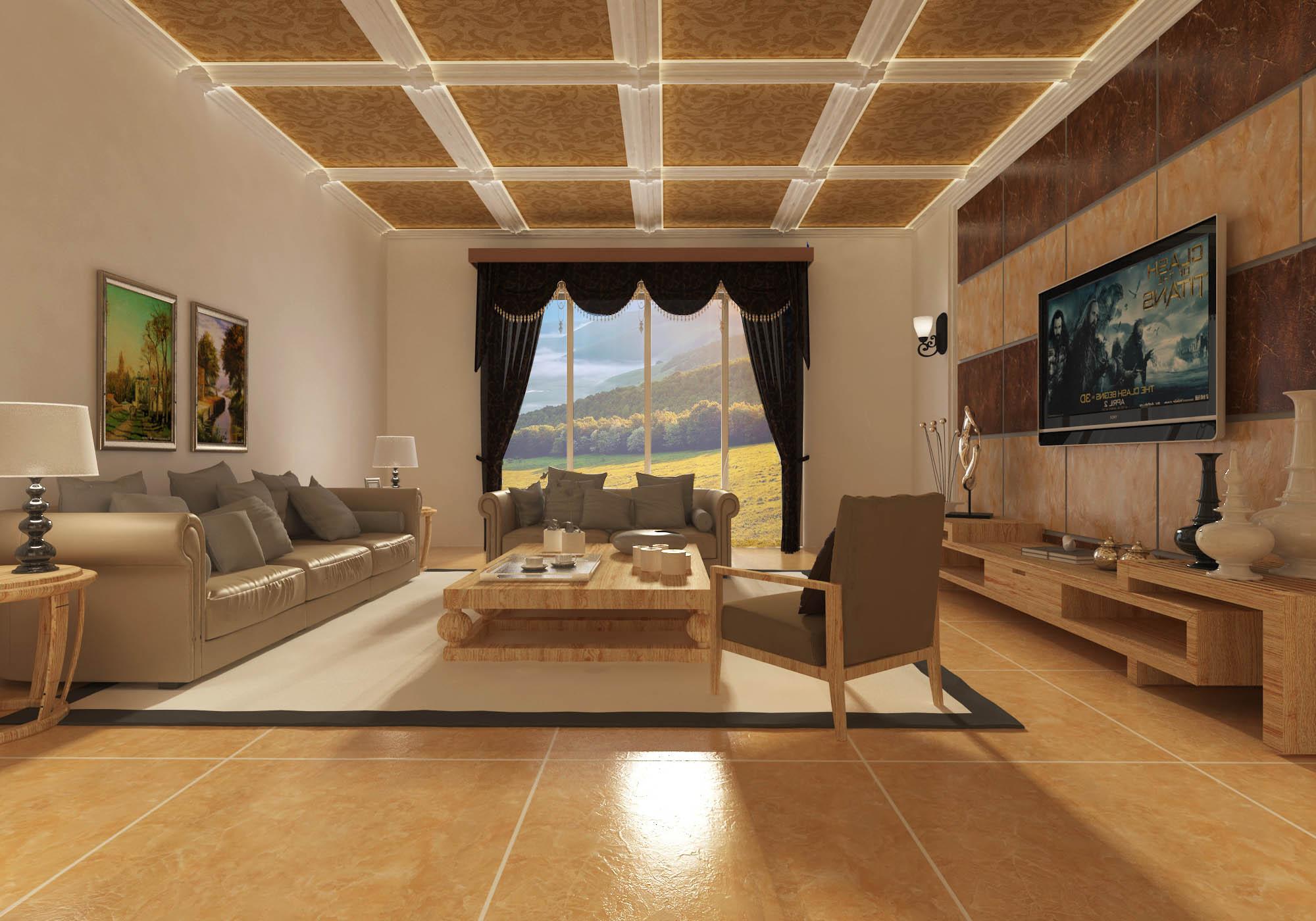 客厅效果图|空间|室内设计|zhanjiabian123 - 原创
