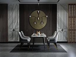 餐椅建模渲染